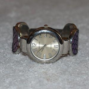 Vintage Purple Cuff Bracelet Watch by HUGO